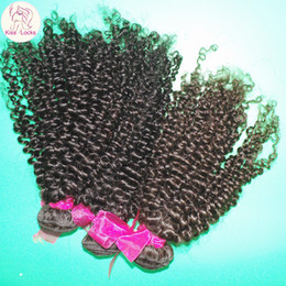 Wholesale Clearance Cheap A Virgin Kinky Curly Brazilian Human Hair Wefts bundles Deal Thick Weaves Amazing DHgate Weave