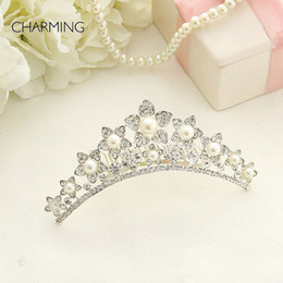 Wholesale Crowns and tiaras Kids beauty contest And wedding hair tiara Kids dresses for girls Best flower girl Product supplier china