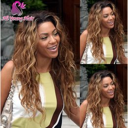 Wholesale Short Curly Lace Front - 7A T1B 30 Brazilian Virgin Hair Glueless Full Lace Ombre Wigs Loose Curly Lace Front Ombre Human Hair Wigs U Part Wig For Black Women