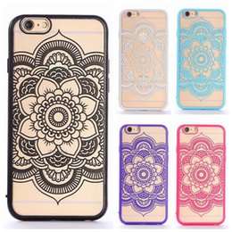 Wholesale Popular Hollow Relief Indra flower TPU PC best cover case for iphone s s plus quot protective case