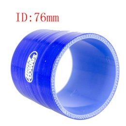 """Universal Sam** 3"""" ID:76mm 3-Ply Straight Silicone Intercooler Turbo Air Intake Pipe Coupler Hose blue Intercooler silicone pipe"""