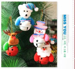 Wholesale Christmas Supplies Christmas Tree Ornaments Santa Claus Snowman Deer Small Bell Christmas Tree or Outdoor party Decoration