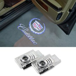 Wholesale No Drill Car Projector Door LED Logo Lamp Ghost Shadow Welcome Light For Cadillac SRX SXT ATS CTS