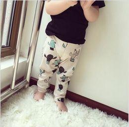 Wholesale New Spring Summer Children Kids Cactus Pattern Pants Baby Boys Girls Summer Pants Children Legging Year hight quality