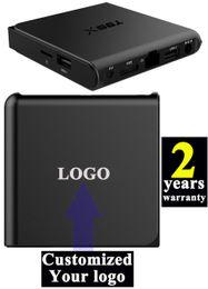 Wholesale 5pcs Customized years warranty Android6 TV boxes IPTV K Ares Blackbox Apolo SpinzTV Titianum KODI16 S905x GB GB T95X