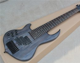 Hot Sale 8-Stirng Electric Bass with Matte Body,Neck-thru-Body Design,24 Frets and Can be Customized