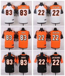 Wholesale 2016 Elite Bengals Mens Jerseys Andy Dalton William Jackson III Tyler Boyd Stitched Name Number Black Free Drop Shipping