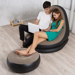 Wholesale Hot Sales Cozy Beanbag Inflatable Sofa Living Bedroom Chair Portable Bean Bag Sleeping Reading Couch Lounger Chair JF0060