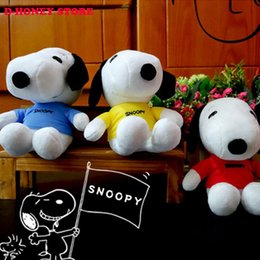 Wholesale Hot Sell new and creative Child Plush toys cm SNOOPY Snoopy plush Dolls small pendant movie colors Child gifts Free Delivery