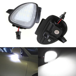 Wholesale 2 Error Free LED White Car Under Side Mirror Puddle Light Internal Lamps Fit for VW Golf6 GTI Cabriolet Passat B7 Touran