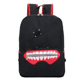 New High Quality Anime Tokyo Ghoul oxford unisex cartoon hot soild Luxurious softback zipper Backpack Double Shoulder Bag