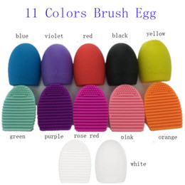 2016 new New Egg Cleaning Glove MakeUp Washing Brush Scrubber Board Cosmetic Brushegg Cosmetic Brush Egg Brush Clean tool 11 colors