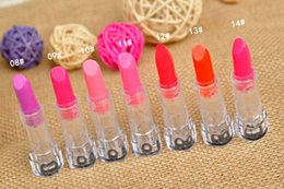Wholesale-1Pcs Portable Mini 7 Colors Highlight Bar Concealer Lipstick Long-lasting Matte Lip Stick Pencil Lip Gloss Pen New Arrive
