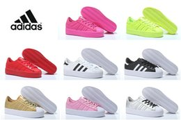 Wholesale Adidas Original Superstar Rize Hot Low Women s shoes Fashion Casual Shoes Original Best Cheap Skater Shoes Leather Running Shoes