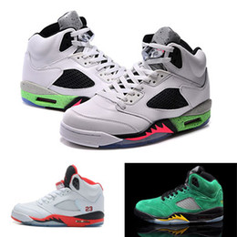 Hot Dan Boots Retro 5 V Men Women Lovers Green Venomenon 5S Fire Red SUP Shoes Sneakers White Camo Cheap Sale