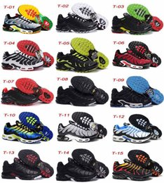 Wholesale good quality Plus TN Men s White Black MetallicSilver brand best Running Sport Footwear Trainers air Shoes