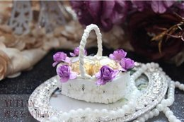 Wholesale 2016 New arrival gift boxes wedding favors favor boxes party gift boxes European style Bamboo basket Bud silk lace Sweet box TH55