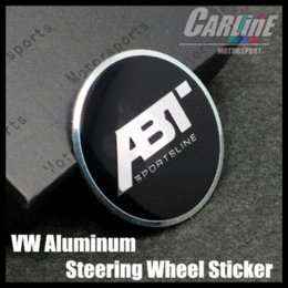 Wholesale MIX VW GTI WOLFBURGE R Rline ABT Rabbit Crystal Steering Wheel Badge Emblem Sticker Golf CL02