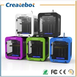 Wholesale Createbot Super Mini D Printer Fine Shape Low Price Build Size mm Small D Printer Colors for Option Best gift for children