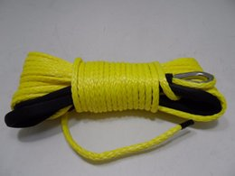 Wholesale yellow amsteel blue winch rope winch cable for SUV ATV recovery replacement