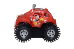 Wholesale RED somersault truck car micky mouse children play toys battery wheel cute plastic xmas gift automatic motor driven SUVs