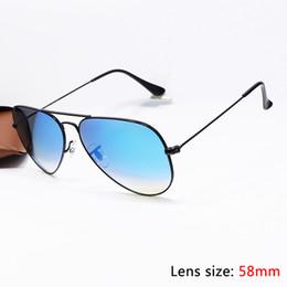 Wholesale 2016 Top Brand Pilot Sunglasses Designer For Men Women Colours Mirror Flash Gradient Alloy Metal Fram Glass Lens mm Original Case Box