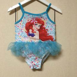 Wholesale 2016 Flower Girls Kid Beauty Mermaid Sequin Tankini Swimsuit Children Swimwear Swimming Costume Beach Baby Clothes