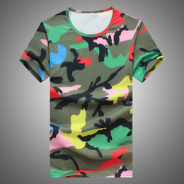 Wholesale-2016 Summer Hot Brand t shirt men lovers T-shirts Camouflage Casual Tops Tees Short Sleeve Tshirt Homme Brand Clothing