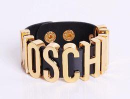 Wholesale NEW arrival Women Brand Designer Punk metal Leather bracelets Charm Bracelet Casual Fashion Bracelet CC608