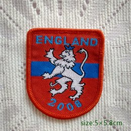 England Lion 2008 Sew On Patch Shirt Trousers Vest Coat Skirt Bag Kids Gift Baby Decoration