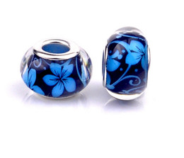 7 Colors DIY Resin Beads Fit Pandora Charms Bracelets Necklaces European Beads Jewelry Loose Beads