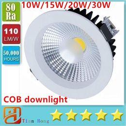 10W 15W 20W 30W COB LED Recessed Ceiling Lighting Down Light Spotlight AC85-265V Warm White(3000K) Cool White(6500K)