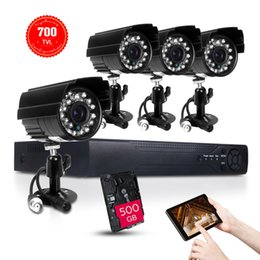 Wholesale Plug Play CMOS CH H HDMI DVR Outdoor weatherproof IR Night Vision Home Security Camera System GB H high DVR definition