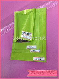 Wholesale 7x10cm X Green Top Open Aluminum Foil Plastic Bag heat sealalbe Aluminized Foil Pouches Food Storage Package Mylar Bags