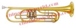 Wholesale China Music World Yellow Brass Bass Trumpet CMWBT