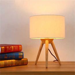 Mesa moderna habitación lámparas en Línea-Lámpara de madera de la lámpara de la cama del arte de la tela de la manera