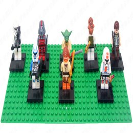 Wholesale DHL Free star war minifigures building block figures without color box for year kids gift
