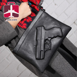 Women Messenger Bags 2016 Personality Pistol Styling Crossbody Bags Dollar Price Clutch Bag Designer Handbags High Quality