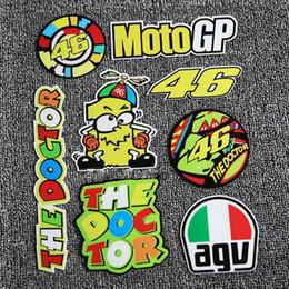 Wholesale Car Styling Valention Rossi Sticker VR46 Motor GP For Yamaha Helmet Large Kit Motocross Motorcycles Bike Skate Board Luggage