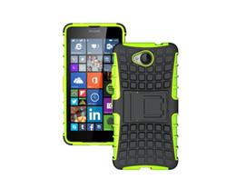 Wholesale Para Nokia Caso duro de la cubierta para trabajo pesado de la armadura del silicón de Microsoft para el Lumia amortiguadora de cubierta del estuche rígido