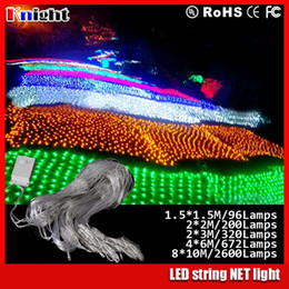 Wholesale 4x6m leds waterproof net string light m m L Mesh Nightligh garden Decorative m Lamps m Leds web lights