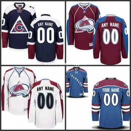 Wholesale Custom Colorado Avalanche Jerseys Authentic personalized Cheap Hockey Jerseys Any Number Name Embroidery Logos size S XL