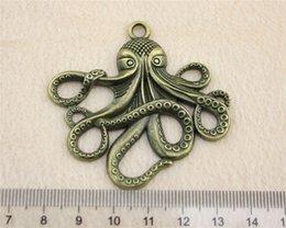 4Pcs 59*57mm Antique Bronze Color octopus Charms Zinc Alloy DIY Handmade Jewelry Pendants Wholesale