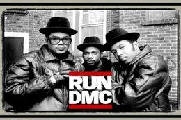 Wholesale Hip hop RUN DMC American Famous Black Rap Band Music Art Silk poster quot x36 quot inch