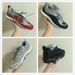 Wholesale Cheap Sale Supreme x Maxes NaVY SNAKESKIN Running Shoes Men s Airs Cushion Basketball Trainers Sneakers Size