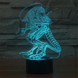 Wholesale 3D variation lizard aliens LED lighting children bedroom home decoration lamp indoor dinosaur Monster flashlight D TD40