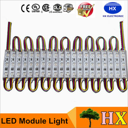 80LM 0.72W 3 Leds SMD 5050 Led Modules RGB Led Pixel Modules Waterproof 12V Backlights For Channel Letter sign Free Shipping