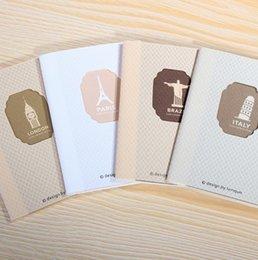 130 * 90mm / Nouveau millésime architecture Craft papier ordinateur portable / bloc-notes / mémo / agenda / Vente en gros à partir de craft bloc-notes fabricateur