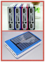 30000 мАч Солнечное зарядное устройство и аккумулятор 30000mAh панели солнечных батарей двойной зарядки Порты портативный банк силы для всех MP3 10pcs сотовый телефон настольный ПК от Поставщики панель солнечных батарей
