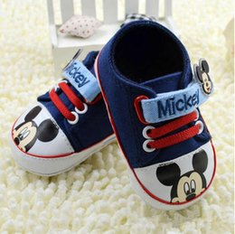 Baby first walkers shoes baby sport shoes cotton shoes cartoon mickey shoes color red size 11-13cm 2016 autumn kids shoes children shoes.769